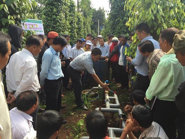 Hội thảo mô hình tưới nước tiết kiệm trên cây hồ tiêu tại xã Ea H'đing