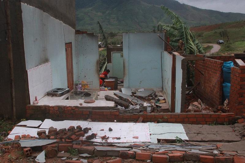 Toàn tỉnh có hơn 7.700 ha cây trồng các loại bị hư hại do ảnh hưởng của bão số 12