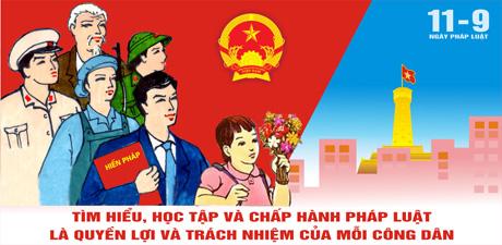 """Tổ chức Lễ hưởng ứng """"Ngày Pháp luật nước Cộng hòa xã hội chủ nghĩa Việt Nam 09/11"""" năm 2017"""