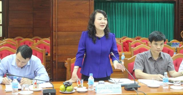 Đoàn công tác của Ủy ban quốc gia về Thanh niên Việt Nam làm việc với UBND tỉnh