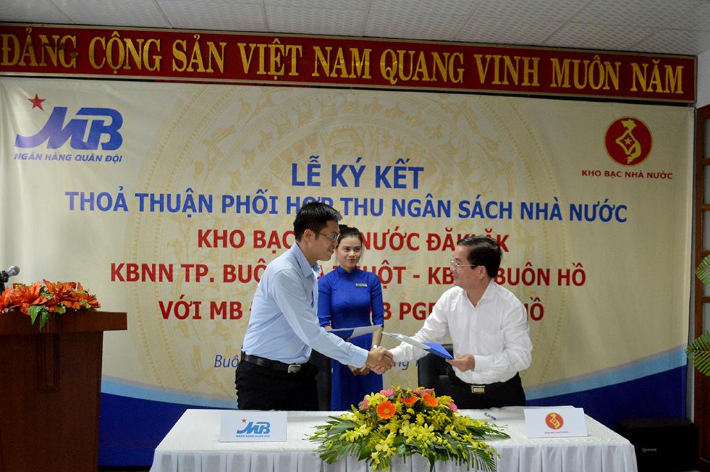 Ngân hàng Thương mại Cổ phần Quân đội chi nhánh Đắk Lắk được ủy nhiệm thu ngân sách nhà nước