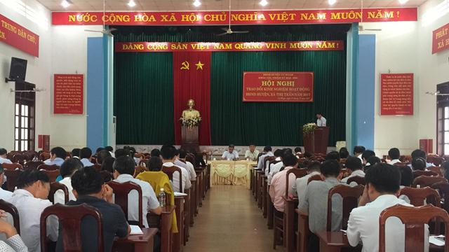 Hội nghị trao đổi kinh nghiệm hoạt động HĐND huyện, xã, thị trấn năm 2017