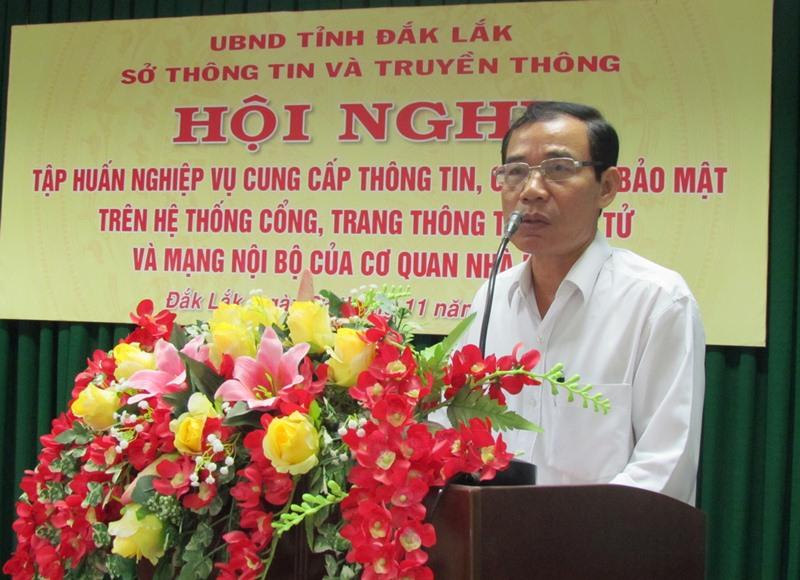 Tập huấn nghiệp vụ cung cấp thông tin và công tác bảo mật trên Cổng, Trang thông tin điện tử