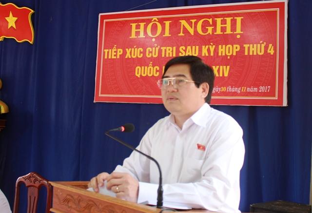Đoàn Đại biểu Quốc hội tỉnh tiếp xúc cử tri tại huyện Krông Ana.