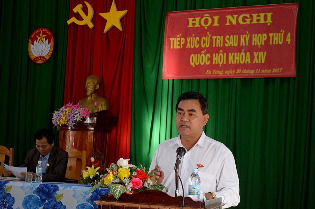 Đoàn Đại biểu Quốc hội tỉnh tiếp xúc cử tri sau kỳ họp thứ 4