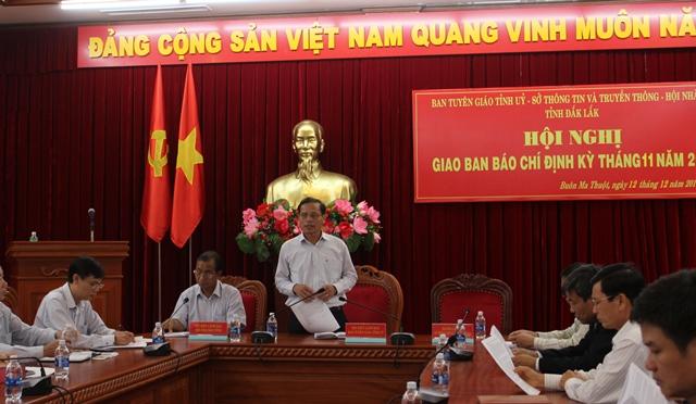 Hội nghị Giao ban báo chí định kỳ tháng 11 năm 2017