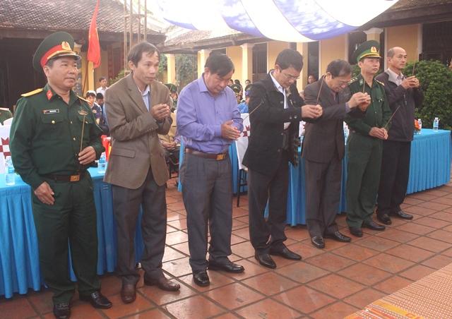 Lễ tưởng niệm các chiến sỹ Nam tiến hy sinh và đồng bào làng Lạc Giao tử nạn năm 1945