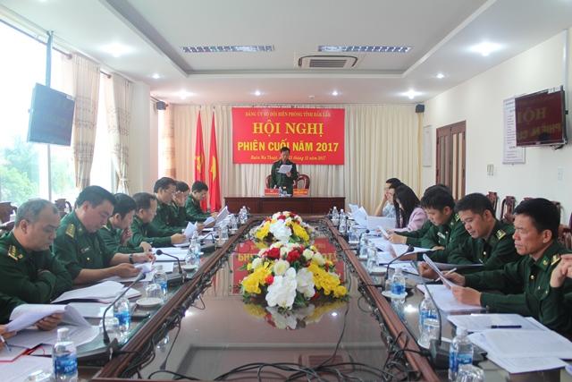 Đảng ủy Bộ đội Biên phòng tỉnh Đắk Lắk tổ chức Hội nghị phiên cuối năm 2017