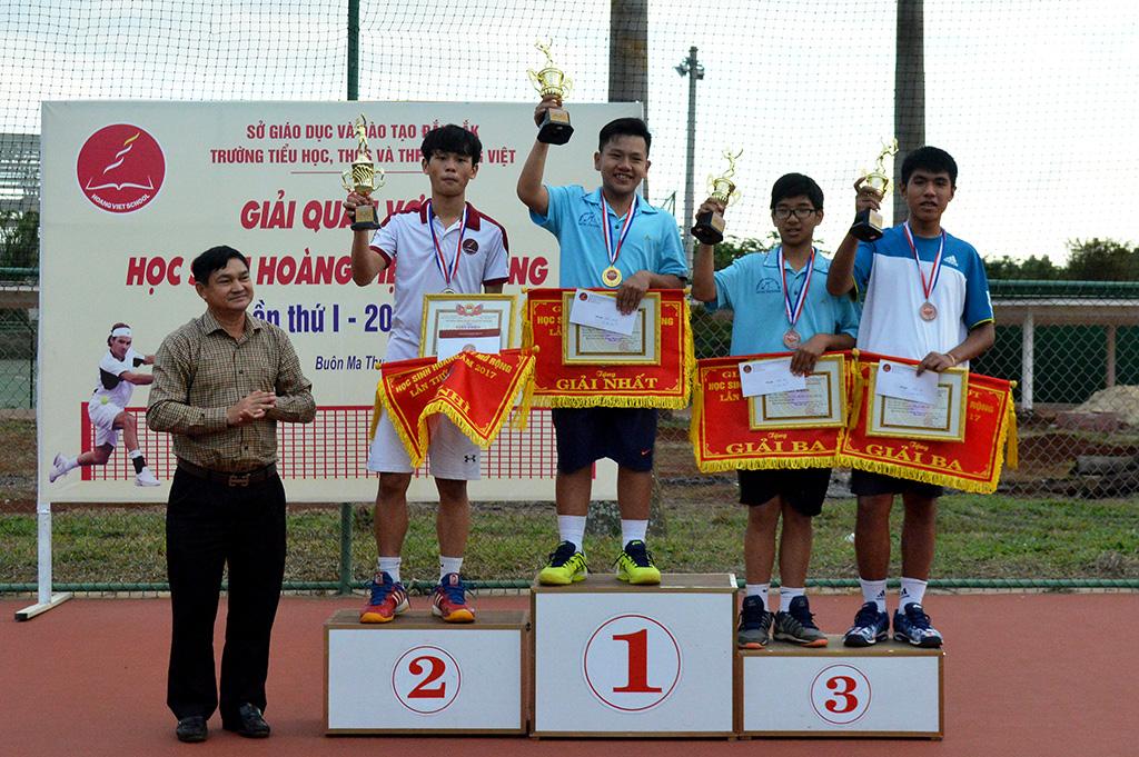 Giải quần vợt học sinh Hoàng Việt mở rộng lần thứ I, năm 2017