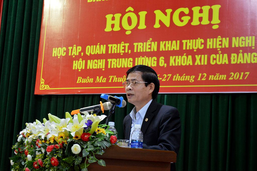 Đảng ủy khối các cơ quan tỉnh học tập, quán triệt Nghị quyết Trung ương 6