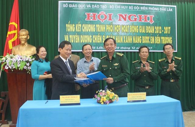 Tổng kết Chương trình phối hợp giữa Sở Giáo dục và Đào tạo và Bộ đội Biên phòng tỉnh giai đoạn 2012-2017