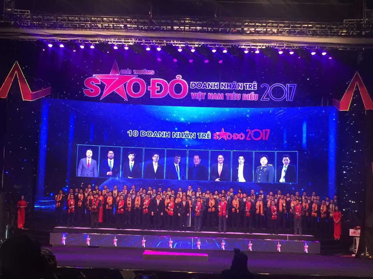 Giải thưởng Sao Ðỏ - Doanh nhân trẻ Việt Nam tiêu biểu năm 2017