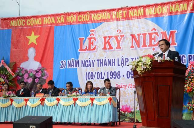 Lễ kỷ niệm 20 năm thành lập thị trấn Quảng Phú huyện Cư M'gar