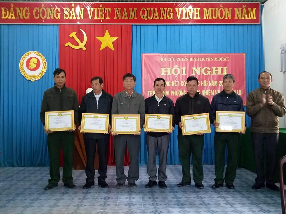 Hội Cựu chiến binh huyện M'Đrắk: Tổng kết công tác Hội năm 2017 và đề ra phương hướng, nhiệm vụ năm 2018
