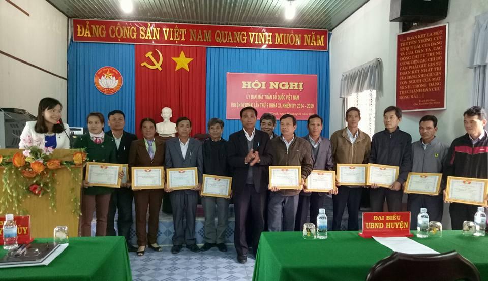Ủy ban Mặt trận Tổ quốc Việt Nam huyện M'Đrắk tổ chức Hội nghị tổng kết công tác Mặt trận năm 2017 và triển khai phương hướng nhiệm vụ năm 2018