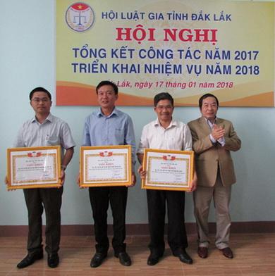 Hội Luật gia tỉnh Đắk Lắk tổ chức Hội nghị tổng kết công tác, phong trào thi đua năm 2017 và triển khai nhiệm vụ năm 2018