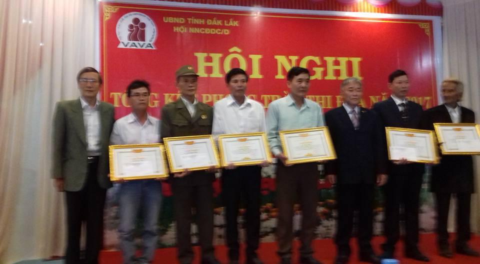 Hội Nạn nhân chất độc da cam tỉnh Đắk Lắk tổng kết phong trào thi đua 2017