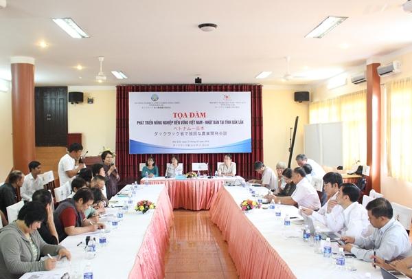 Tọa đàm phát triển nông nghiệp bền vững Việt Nam – Nhật Bản tại tỉnh Đắk Lắk
