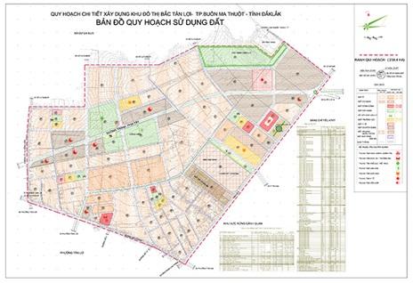Điều chỉnh cục bộ Quy hoạch phân khu tỷ lệ 1/2000 Khu đô thị Đông Bắc Tân Lợi, phường Tân Lợi, thành phố Buôn Ma Thuột