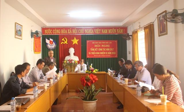 Hội Nhà báo tỉnh tổng kết công tác năm 2017