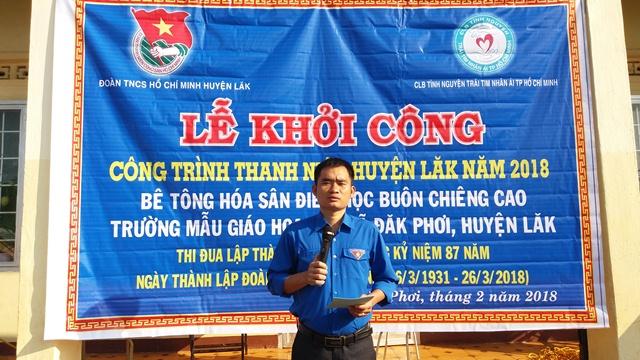 Huyện Lắk khởi công xây dựng Công trình thanh niên Bê tông hóa sân vui chơi cho thiếu nhi