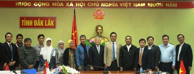 UBND tỉnh tiếp đoàn công tác Đại sứ quán Indonesia tại Việt Nam