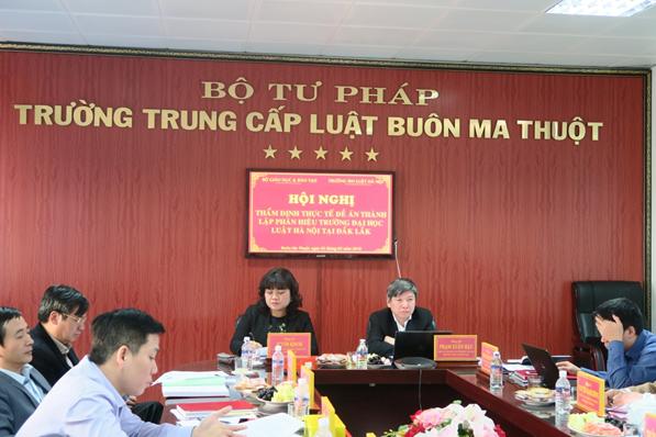 Hội nghị thẩm định Đề án thành lập Phân hiệu Trường Đại học Luật Hà Nội tại tỉnh Đắk Lắk