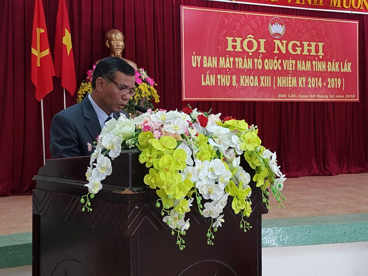 Hội nghị Ủy ban MTTQ VN lần thứ tám, khóa XIII, nhiệm kỳ 2014 – 2019
