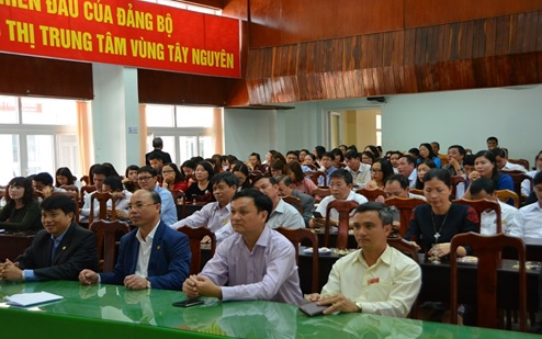Lãnh đạo thành phố Buôn Ma Thuột gặp mặt đầu năm 2018