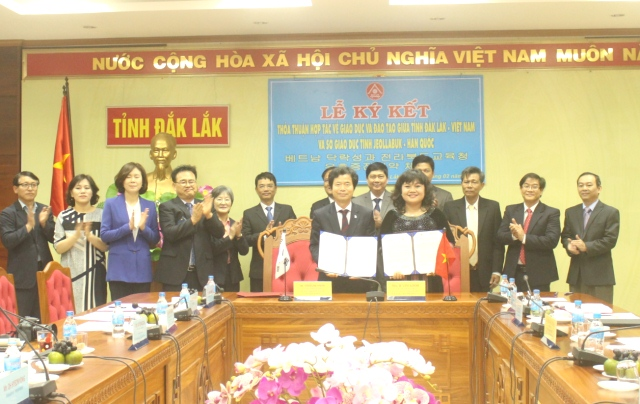 UBND tỉnh ký kết Bản ghi nhớ hợp tác về giáo dục - đào tạo với Sở Giáo dục tỉnh Jeollabuk (Hàn Quốc)