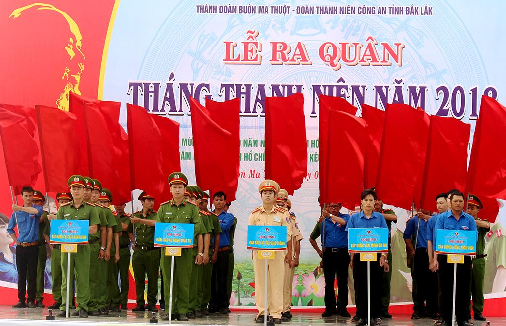 Hơn 3.000 đoàn viên thanh niên tham gia Lễ ra quân Tháng Thanh niên